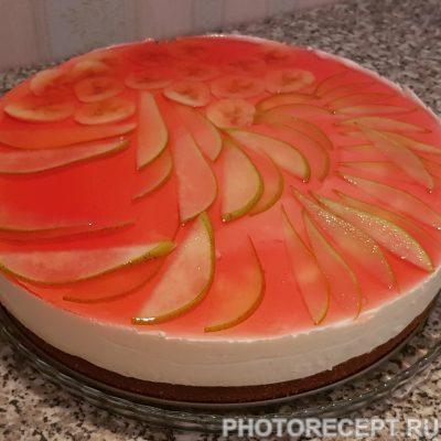 Творожный торт на бисквитной основе - рецепт с фото