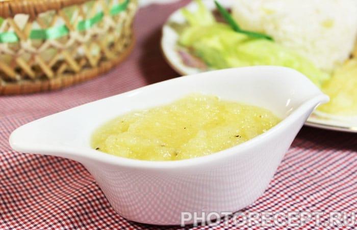 Кисло-сладкий соус из ананасов
