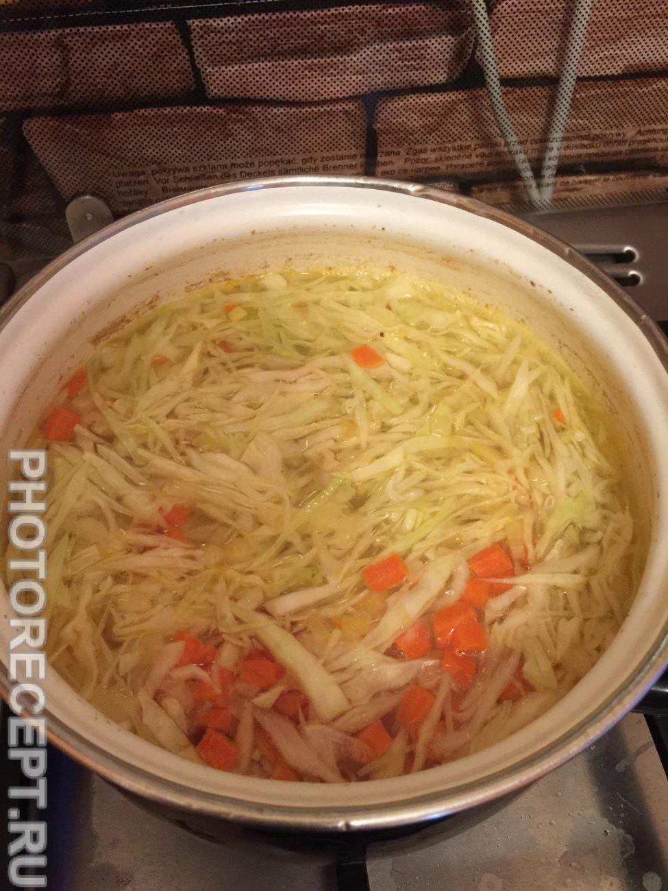 Щи из свежей капусты без зажарки пошаговый рецепт
