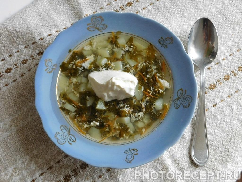 Легкий щавелевый суп без мяса