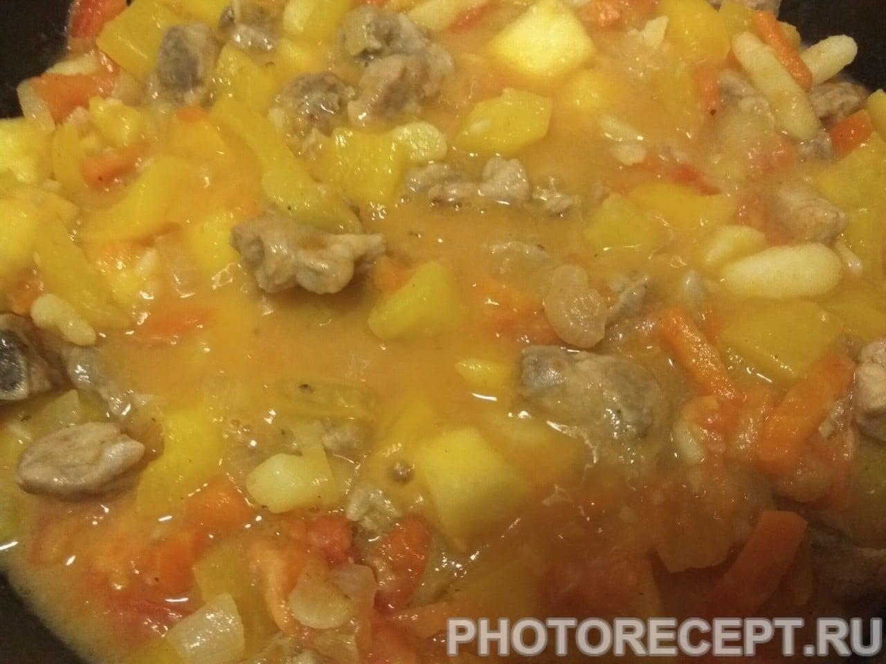Овощное рагу с мясом и капустой рецепт пошагово