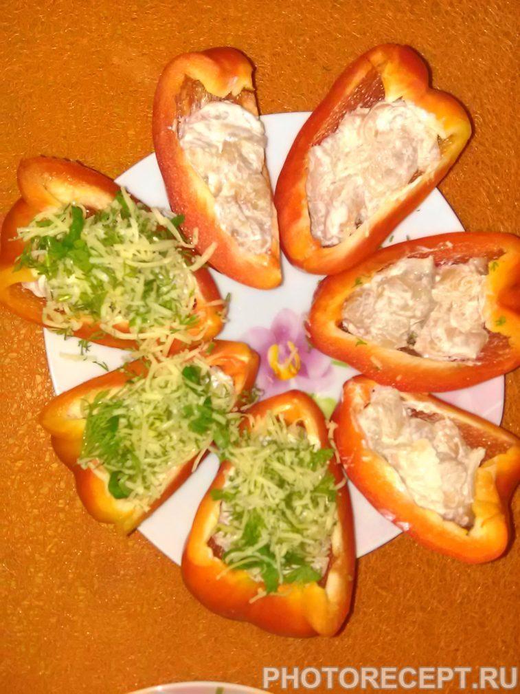 Фото рецепта - Запеченный фаршированный перец под сыром - шаг 7