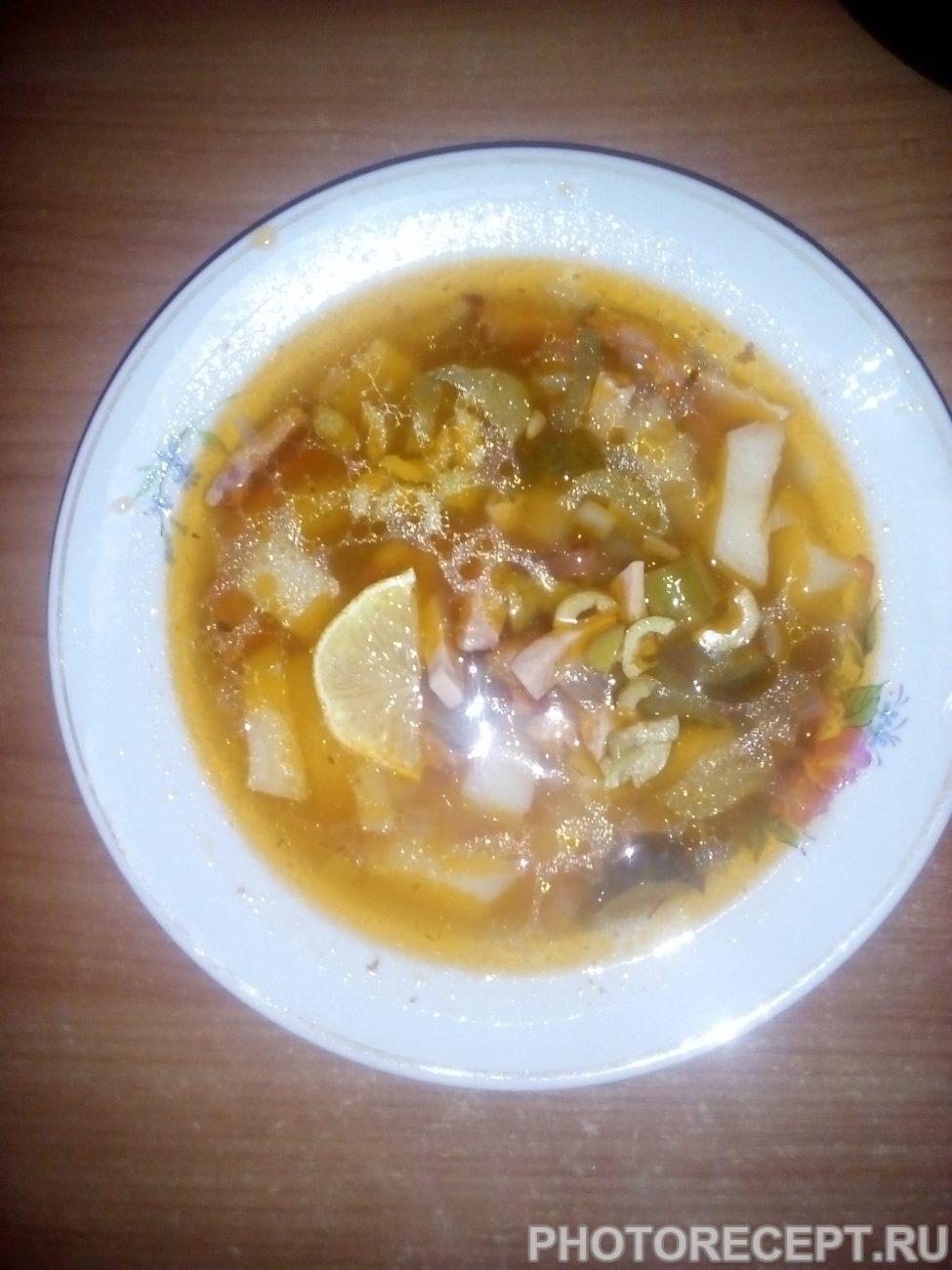 Рецепт солянки с лимоном в домашних условиях
