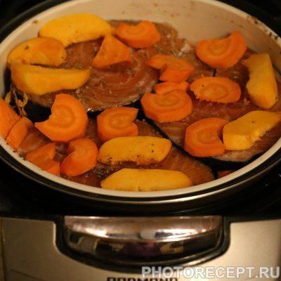 Фото рецепта - Рыба с овощами в мультиварке - шаг 2
