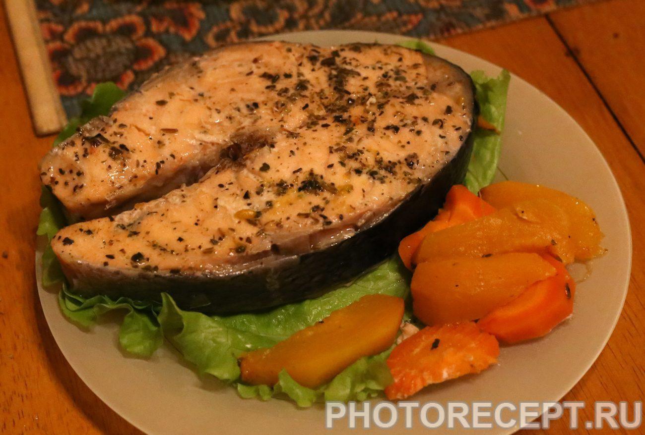 Рыба с овощами в мультиварке рецепт пошагово