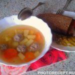 «Быстрый» суп с фрикадельками