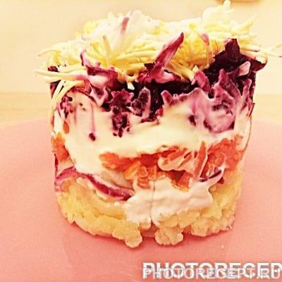 Салат порционный «Селёдка под шубой» - рецепт с фото