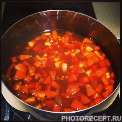 Фото рецепта - Фасолада — греческий фасолевый суп с томатами - шаг 3