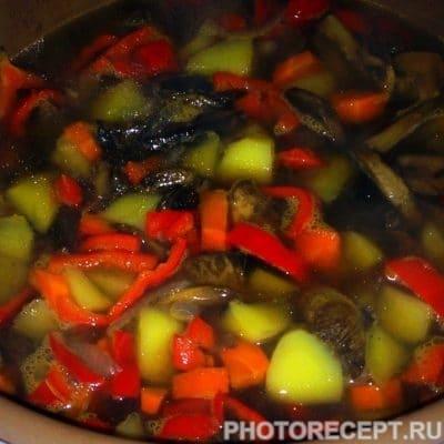 Картофельный соус с грибами - рецепт с фото