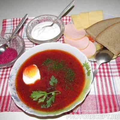 Свекольник горячий - рецепт с фото