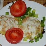 Запеченные фаршированные кабачки с куриным филе