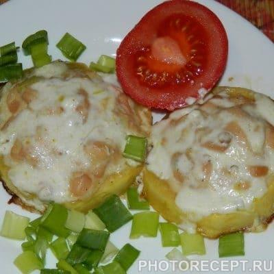 Фото рецепта - Запеченные фаршированные кабачки с куриным филе - шаг 6