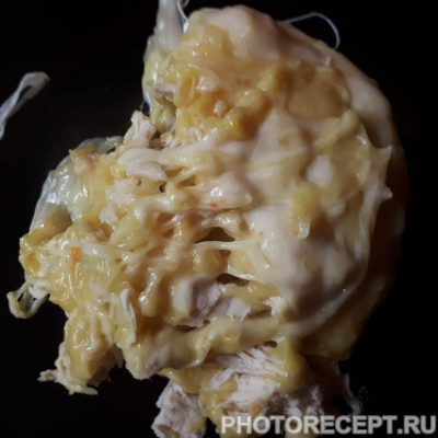 Картофельная запеканка с курицей и кукурузой - рецепт с фото