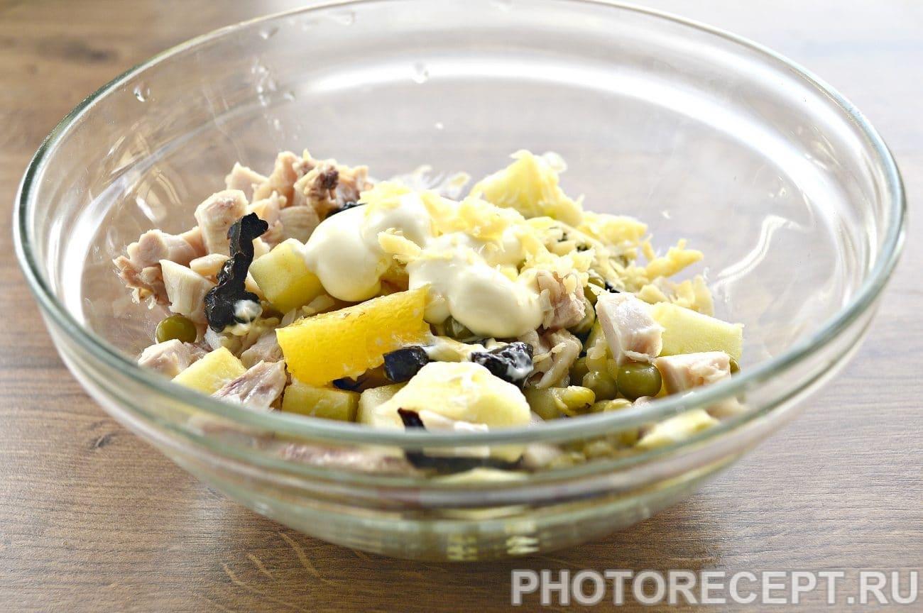 Салат с курицей и майонезом в домашних условиях рецепт