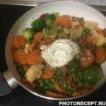 Фото рецепта - Сметанно-овощной суп с говядиной - шаг 3