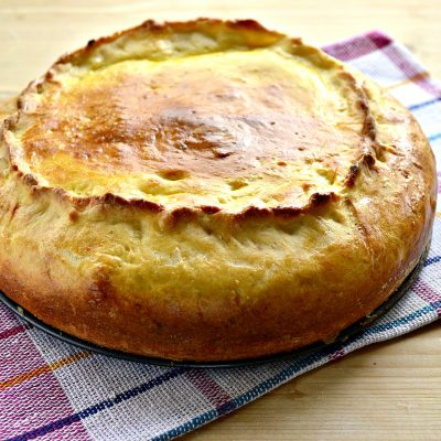 Творожный пирог с вареньем - рецепт с фото