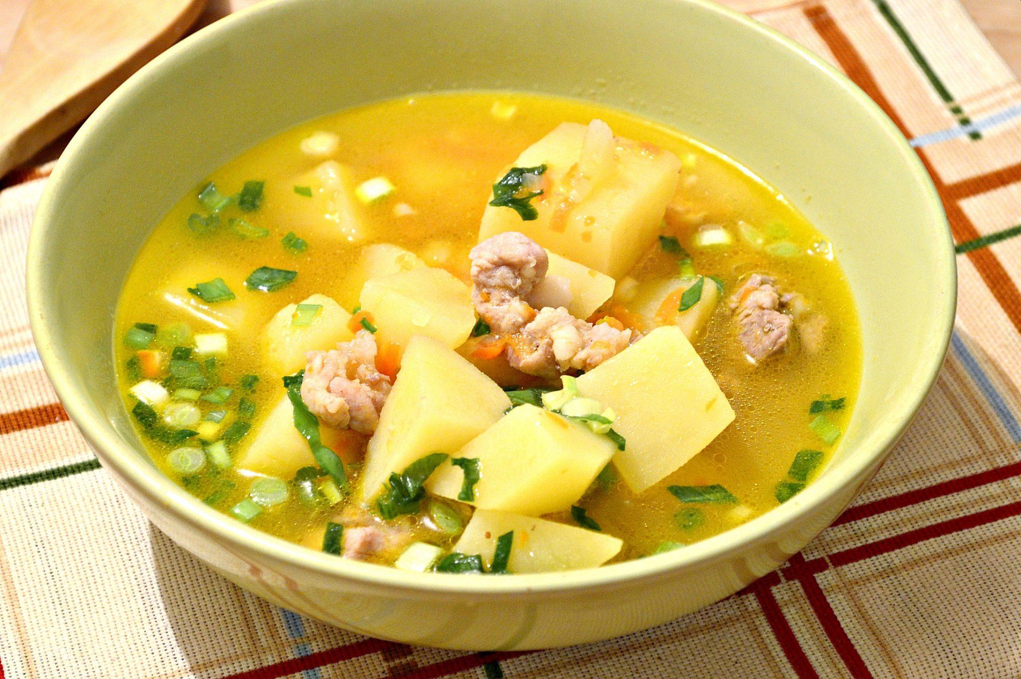 Супы из свинины рецепт пошагово в