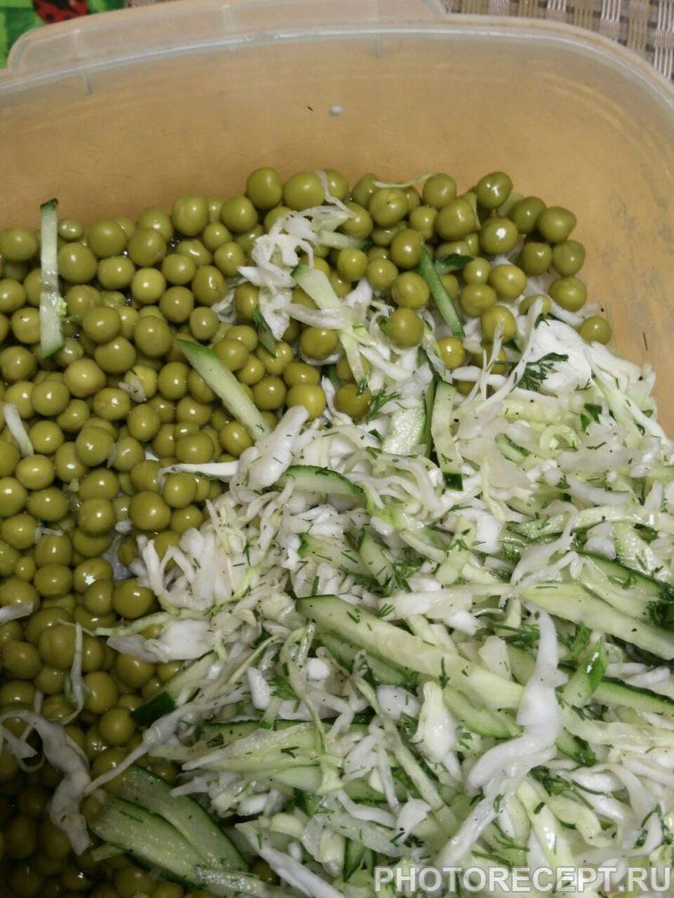 Фото рецепта - Салат из капусты «Свежесть» - шаг 4
