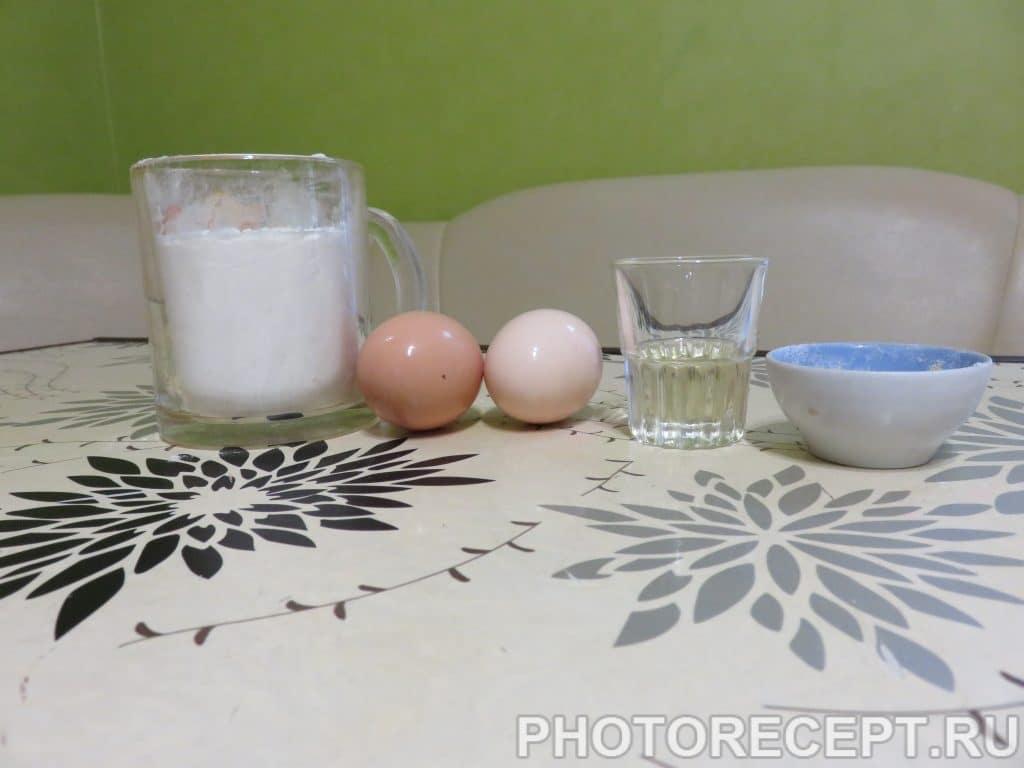 Фото рецепта - Лапша домашняя — тесто - шаг 1