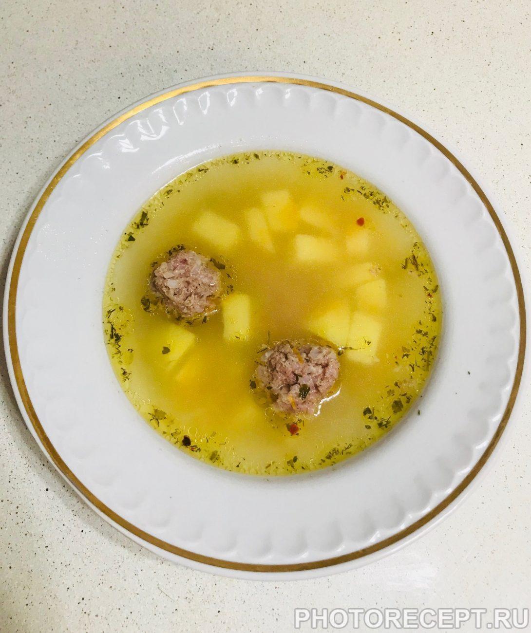 Суп с фрикадельками пошаговый рецепт с вермишелью и картошкой
