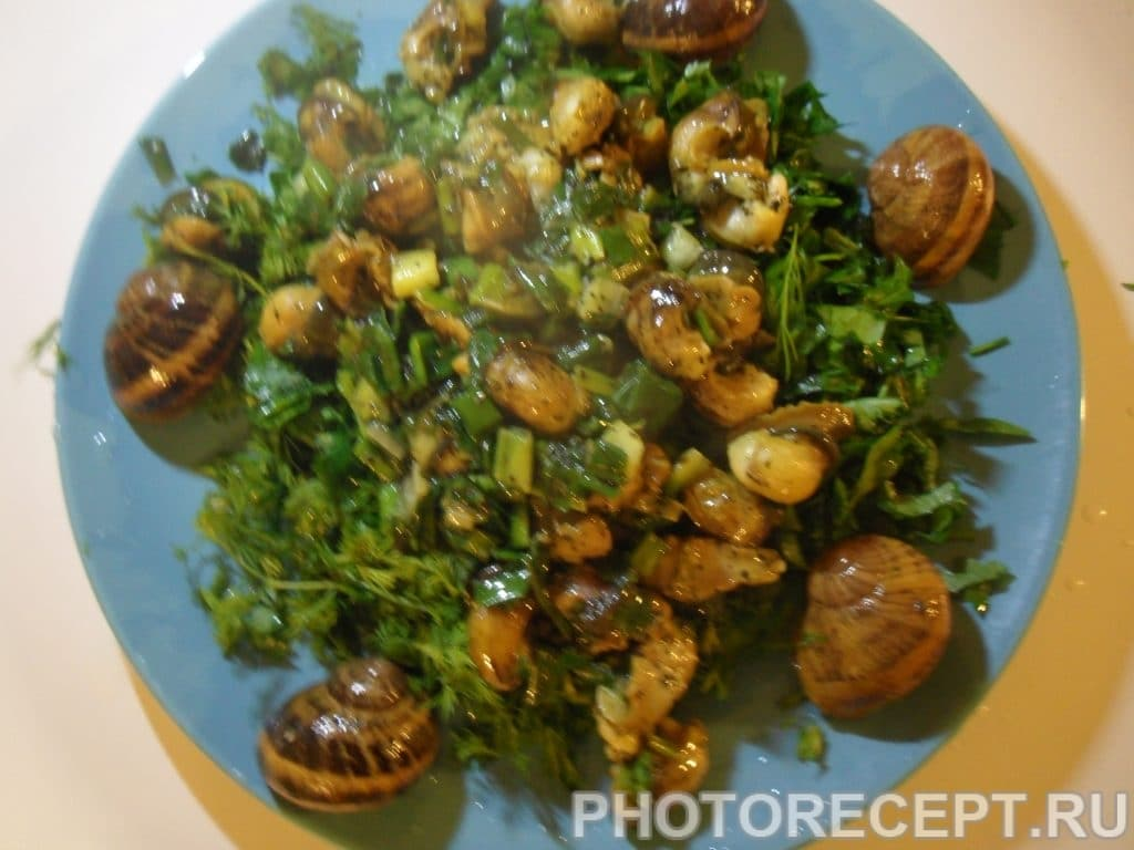 Фото рецепта - Улитки со свежей зеленью - шаг 5