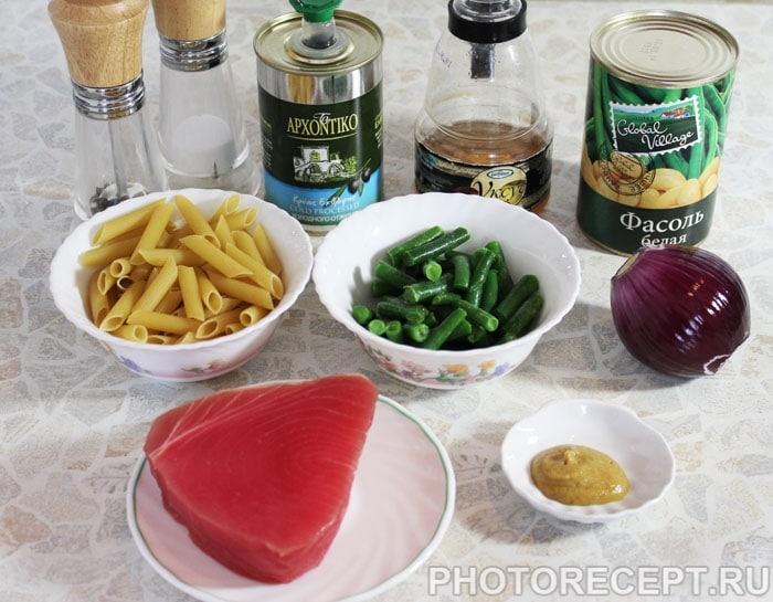 Фото рецепта - Салат с тунцом и фасолью - шаг 1