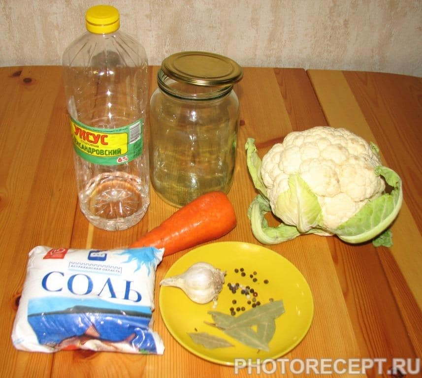 Фото рецепта - Капуста цветная маринованная - шаг 1