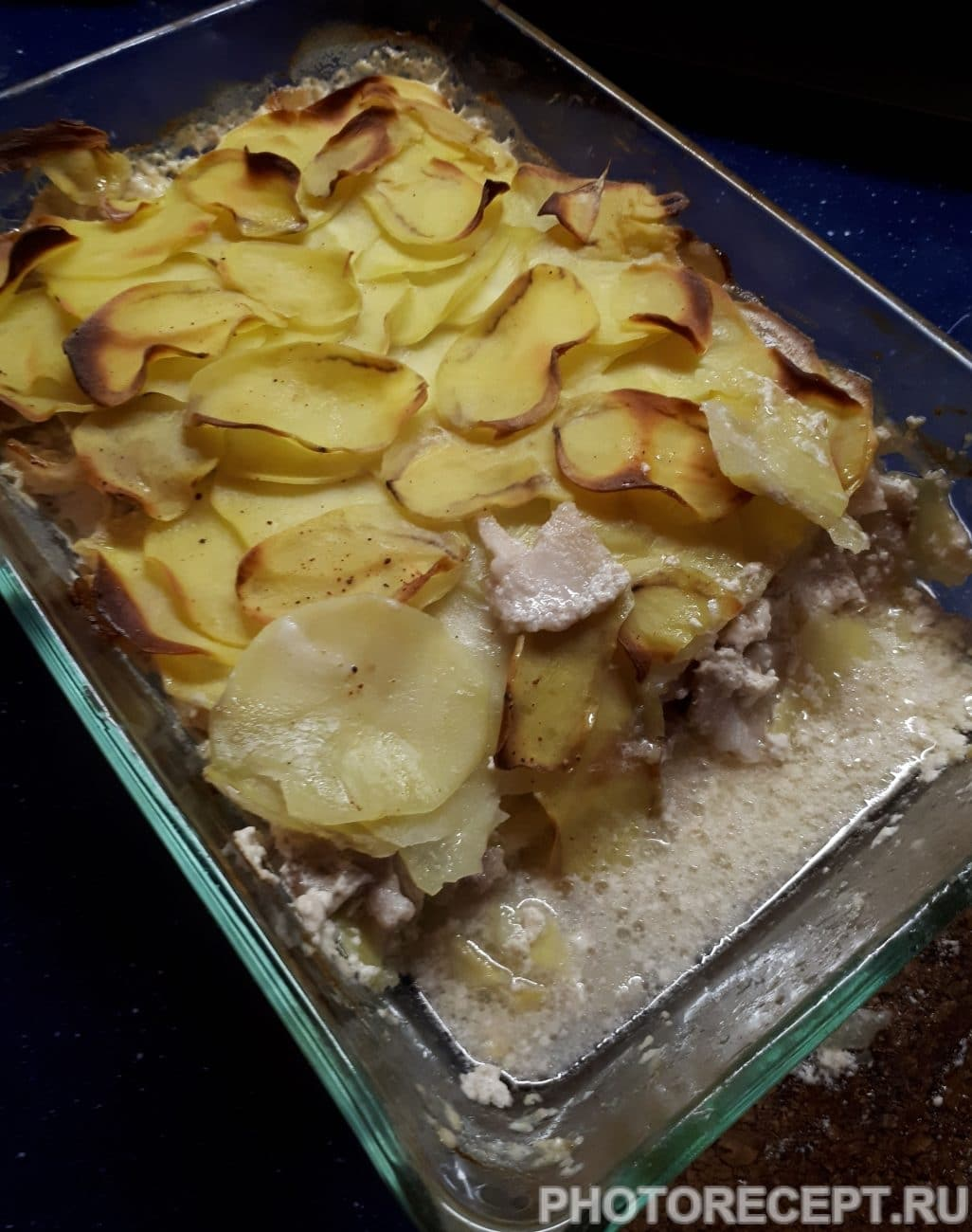Картофельная запеканка с беконом