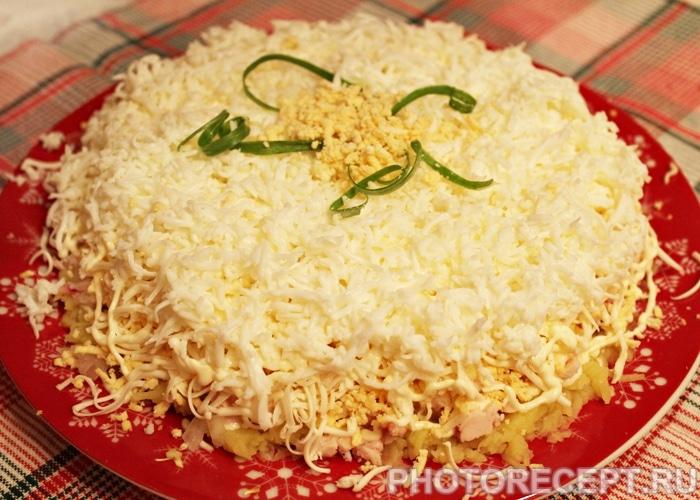 Салаты из копченой курицы рецепты фото пошагово