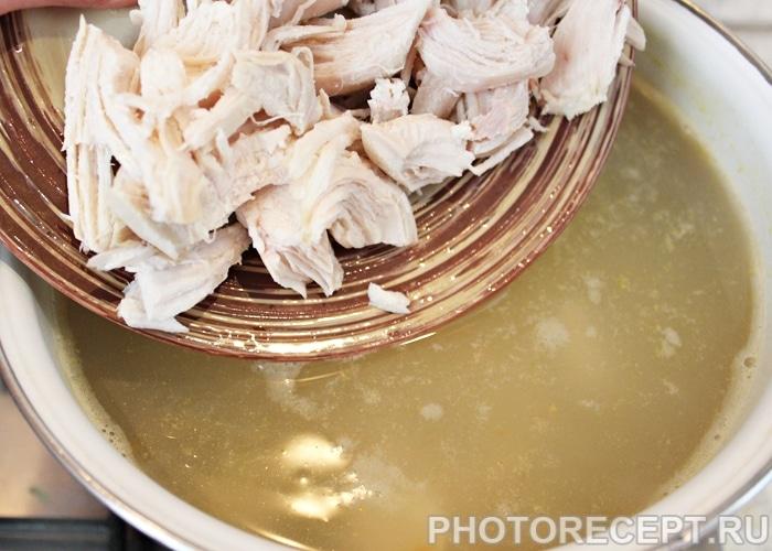 Фото рецепта - Куриный суп с пастой (лапшой) - шаг 6