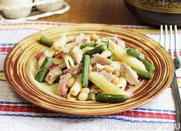 Фото рецепта - Салат с тунцом и фасолью - шаг 7
