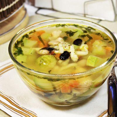 Овощной суп Минестроне с индейкой и фасолью - рецепт с фото