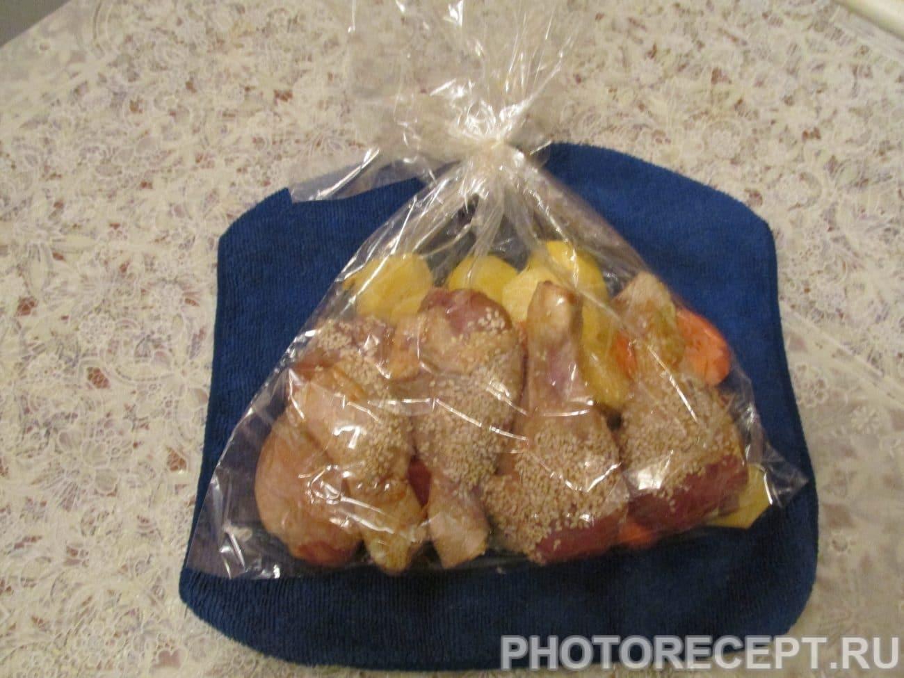 Как сделать картошку в пакете для запекания фото