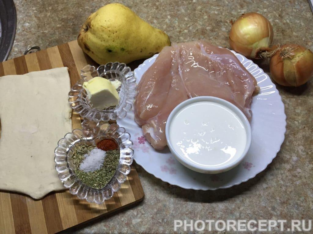 Фото рецепта - Нежное куриное филе с грушами в сливочном соусе - шаг 1