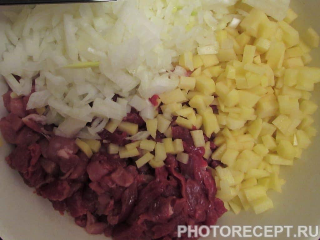 Фото рецепта - Ленивый курник из рубленого мяса и картофеля - шаг 9