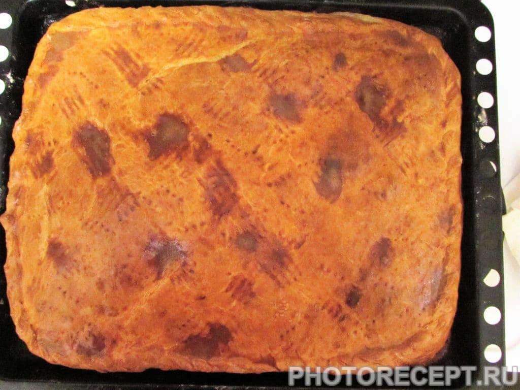 Фото рецепта - Ленивый курник из рубленого мяса и картофеля - шаг 17