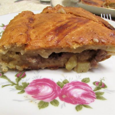 Ленивый курник из рубленого мяса и картофеля - рецепт с фото