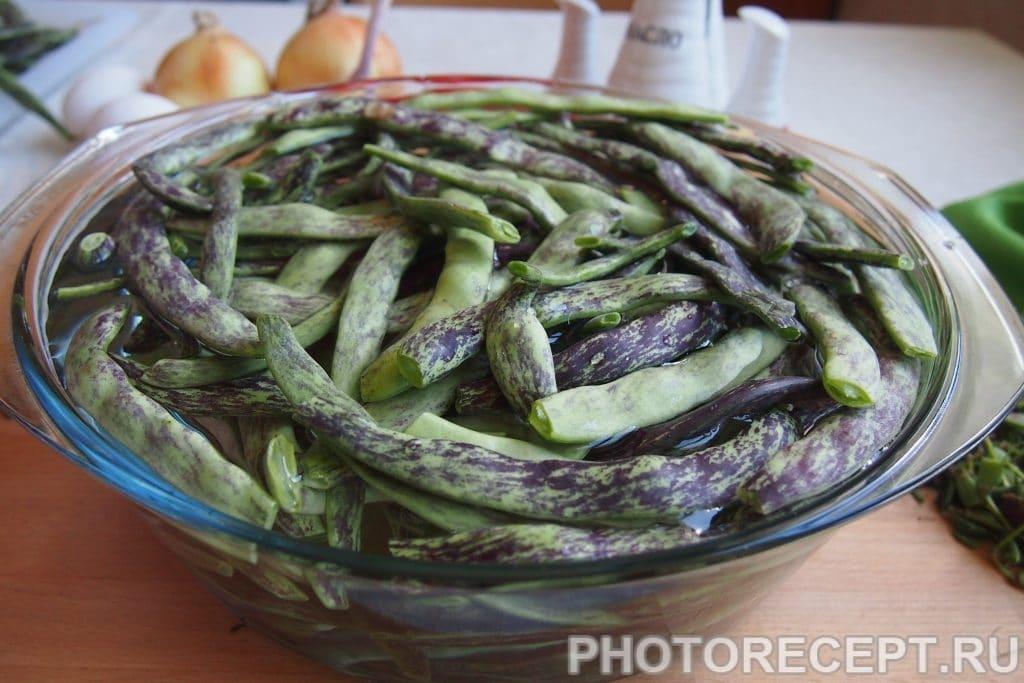 Фото рецепта - Лобио из зеленой фасоли с яйцами - шаг 2