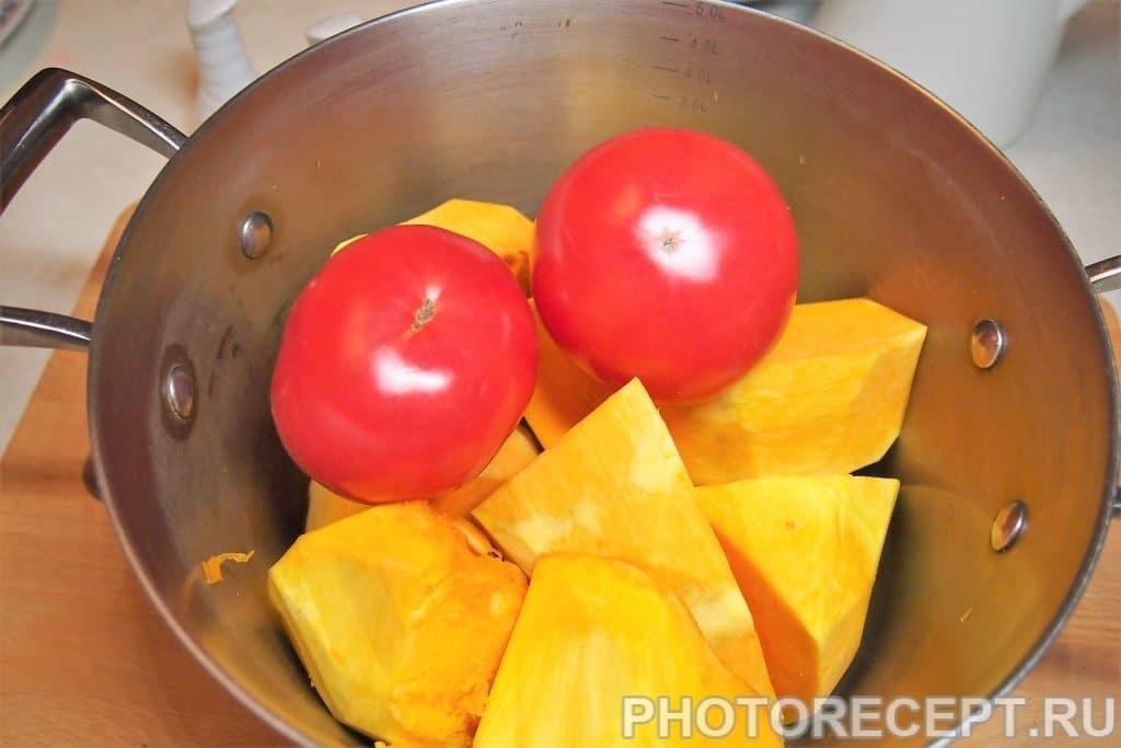 Фото рецепта - Отварная тыква с помидорами - шаг 5