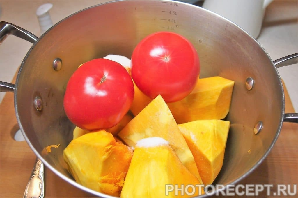 Фото рецепта - Отварная тыква с помидорами - шаг 6