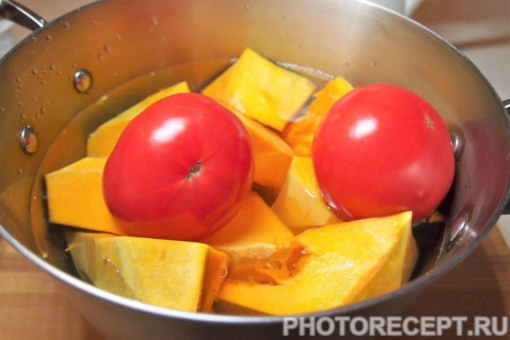 Фото рецепта - Отварная тыква с помидорами - шаг 7