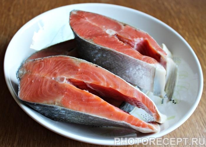 Фото рецепта - Красная рыба, запеченная в духовке - шаг 1