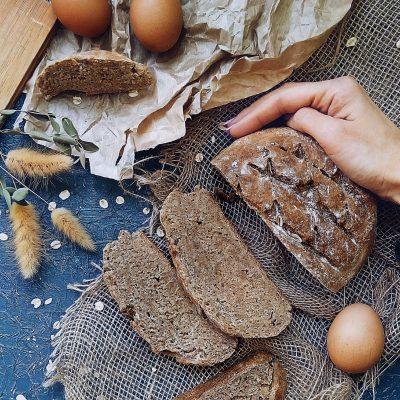 Ржаной хлеб на кефире - рецепт с фото