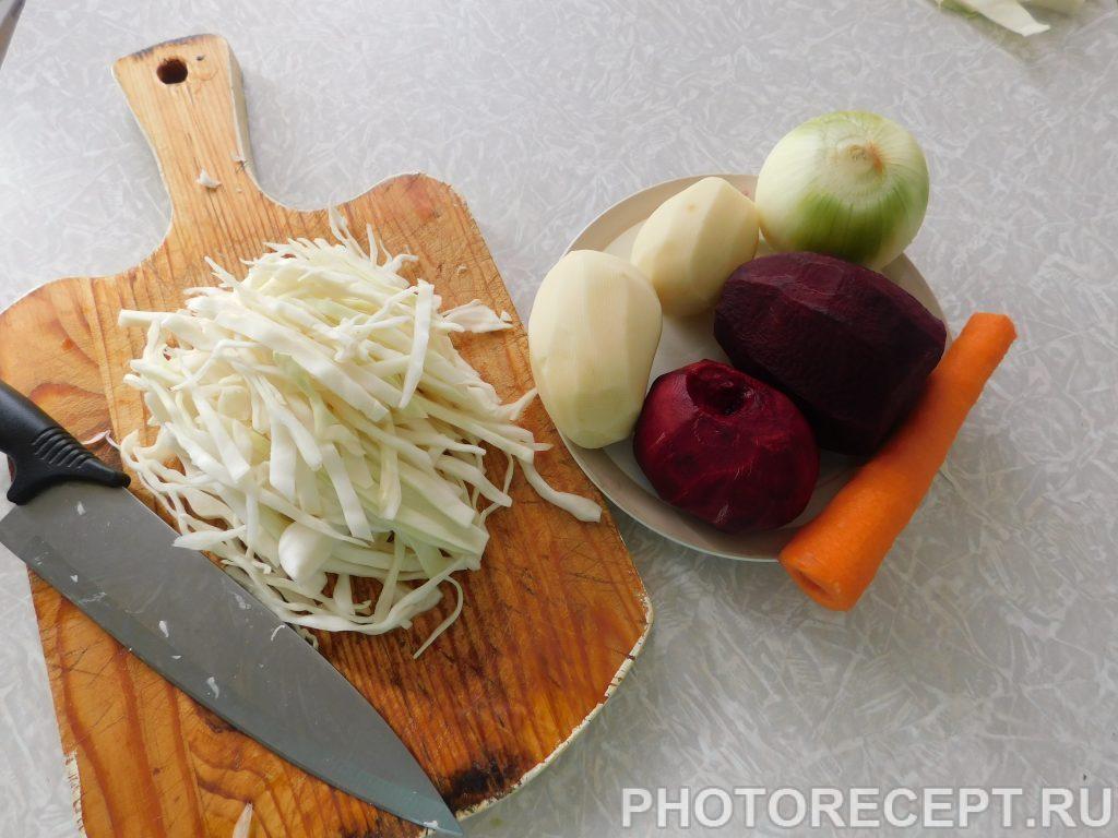 Фото рецепта - Борщ домашний со свеклой и мясом - шаг 2