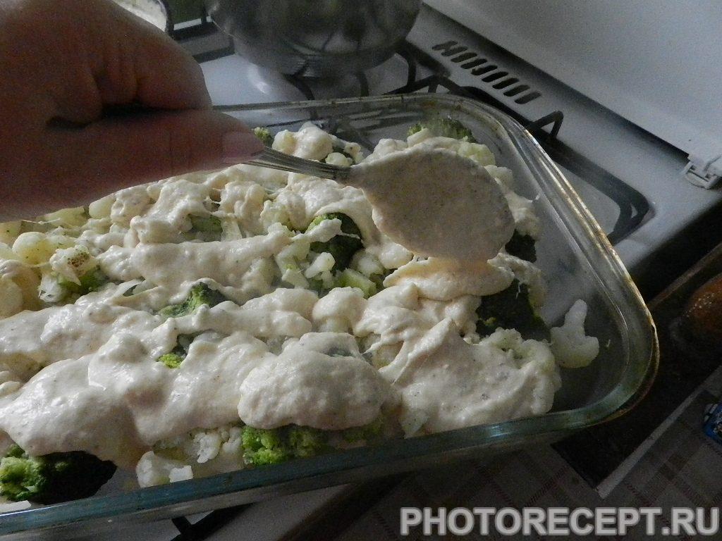 Фото рецепта - Цветная капуста и брокколи, запеченные под сливочным соусом - шаг 9