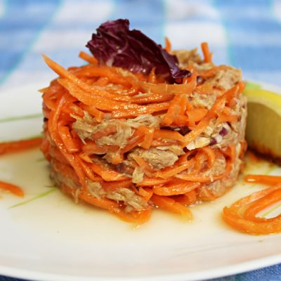 Салат из корейской моркови и тунца - рецепт с фото