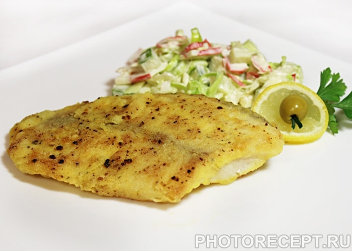 Фото рецепта - Рыба, жаренная в кукурузной корочке - шаг 5