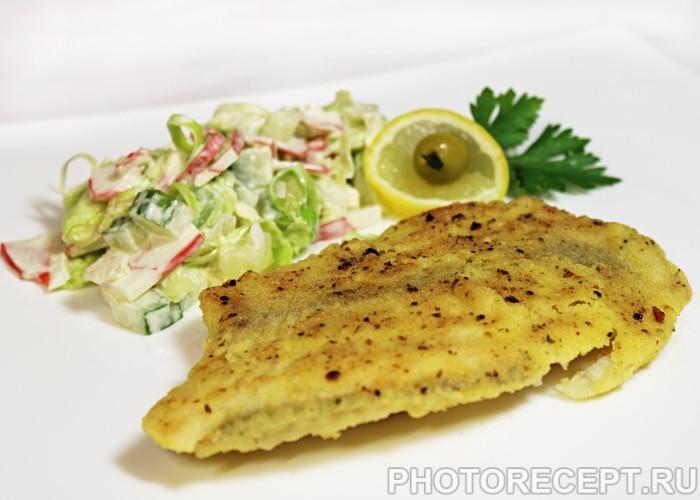 Рыба, жаренная в кукурузной корочке