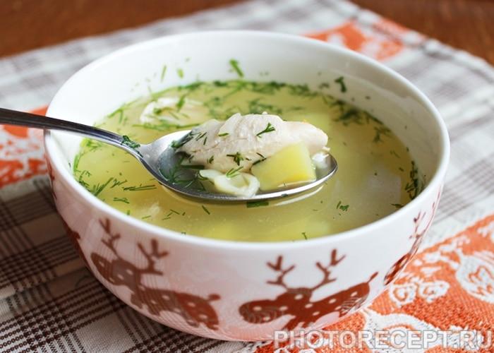 Куриный суп с пастой (вермишелью)