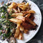 Запеченая рыба с картофелем